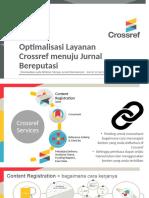 Optimalisasi Layanan Crossref
