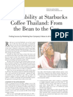 Sustainability at Starbucks Coffee Thailand