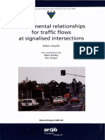 Fundamental relationships for traffic flQWS at signaIised intersections