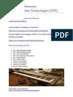 Purple Dolphin Technologies (PDT) keyboard designs