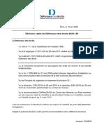 Décision cadre n°2020-136