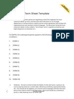 Term Sheet Template - pandadoc