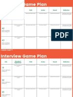 Interview Game Plan