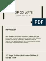 TOP 20 WAYS to Identify Hidden Skillset