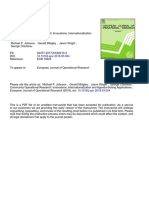 Johnson et al. - 2018 - Community Operational Research Innovations, internationalization and agenda-setting applications