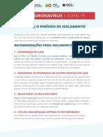 Cartaz - Recomendações durante o período de isolamento em casa.pdf