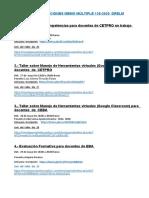 CAPACITACIONES  M.M. 138 .2020