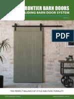 Hume Doors Frontier Barn Door Systems