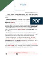 COMUNICAT DE PRESĂ EVENIMENTE 7-8 sept