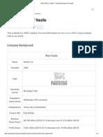 Nestle SWOT analysis - Strategic Management Insight