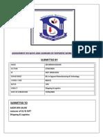 shipping  & Logistics Assignment pdf