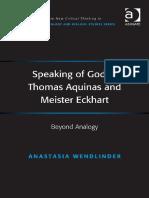 Speaking of God in Thomas Aquin - Anastasia Wendlinder