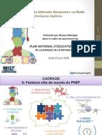 Littératie financière en Haïti. Nesmy Manigat