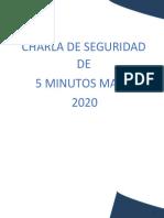 05 CHARLA DE 5 MINUTOS DE SEGURIDAD MAYO 2020