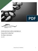 stone mountain capital partners ddq