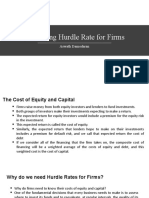 Estimating Hurdle Rate for Firms