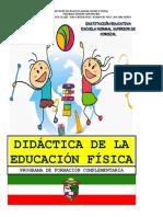 MODULO DIDACTICA DE LA EDUCACIÓN FÍSICA 2014  TERCERA Y CUARTA UNIDAD