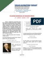 ECUACION DIFERENCIAL DE SEGUNDO ORDEN
