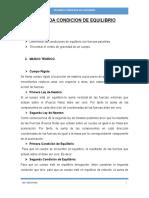 SEGUNDA CONDICION DE EQUILIBRIO..
