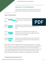 Understanding Task Dependencies in Project Management