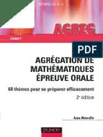 [Ivan Nourdin] Agrégation de Mathématiques 68Thèmes