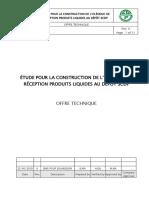 ÉTUDE POUR LA CONSTRUCTION DE L'OLÉODUC DE RÉCEPTION PRODUITS LIQUIDES AU DÉPÔT SCDP- OFFRE TECHNIQUE