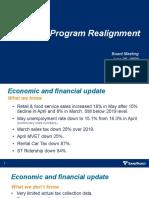 Presentation - Program Realignment - June 25, 2020