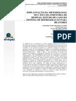 IMPLANTAÇÃO DA METODOLOGIA MCC EM UMA INDÚSTRIA DE RESINAS; ESTUDO DE CASO DO SISTEMA DE REFRIGERAÇÃO PARA REATORES.pdf