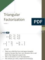 Triangular Factorization Pdf