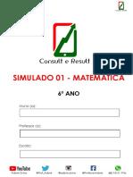 Simulado 01 - Matemática - 6º Ano - ( Blog do Prof. Adonis)