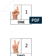 Numbers 1- 10 in English