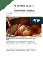 Conservar carne de porco na lata