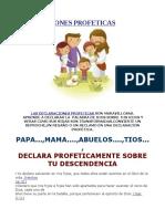 DECLARACIONES PROFETICAS SOBRE LOS HIJOS