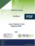 Skillsfirst DIploma in Adult care handbook