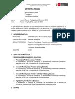 INFORME N° 01 - TECNICO PEDAGOGICO AGOSTO - 2019-I