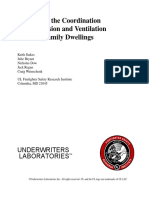 Analysis of the Coordination of Suppression and Ventilation in Multi-Family Dwellings