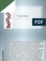 Презентация на тему Генетика
