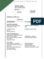 Cuomo DeBlasio Dist Court Memo and Order June 26 2020