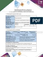 Guía de actividades y rubrica de evaluación –Paso 3 - Socialización