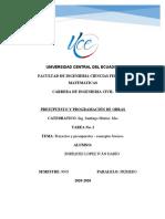 CONCEPTOS BÁSICOS Presupuesto y programación de obras