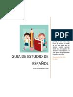 GUIA DE ESTUDIO DE ESPAÑOL