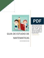 GUIA DE ESTUDIO MATEMATICAS