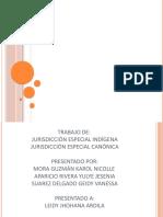 TRABAJO JURISDICION ESPECIAL  INDIGENA, Y CANONICA