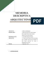MEMORIA ARQUITECTONICA