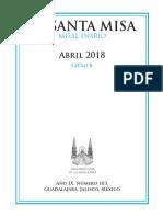 MISAL DIARIO-ABRIL 2018