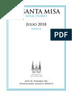 MISAL DIARIO-JULIO 2018