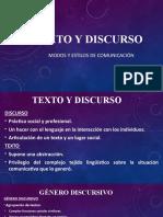 PRE DE TURISMO 2020 TEXTO Y DISCURSO CLASE 2