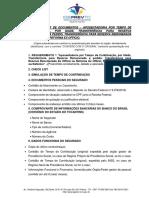 CHECK LIST DE DOCUMENTOS