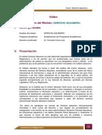 Derecho aduanero -Silabo