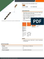 FICHA TECNICA BROCA 3-16 TRUPER REF-11126